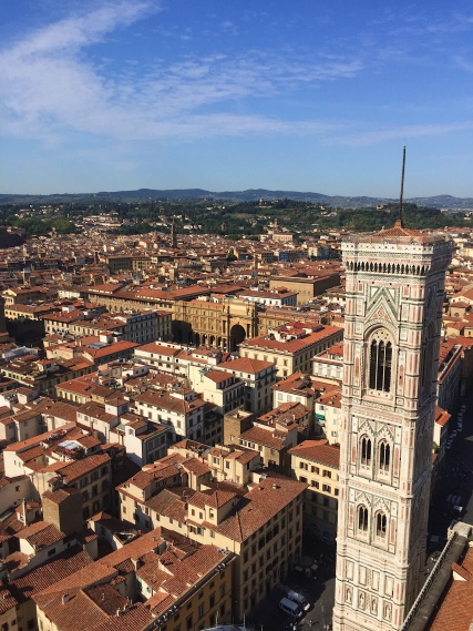 Vue sur Florence au sommet du Dôme