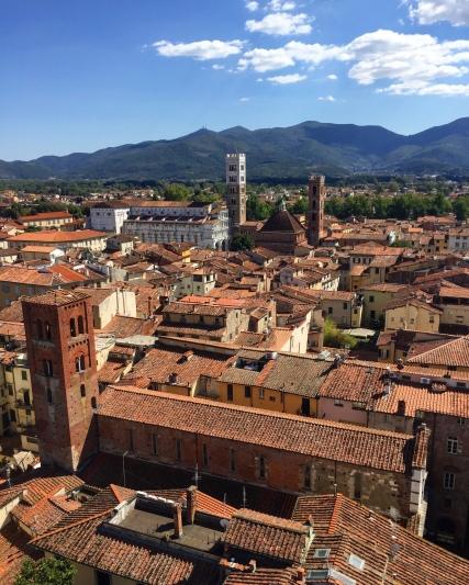 Vue sur Lucca du haut de la Tour de l'