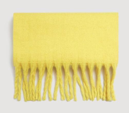Maxi écharpe jaune